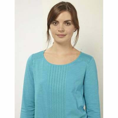 £3.99 • Buy White Stuff Size 8 Millie Jersey Tee Top Tango Turquoise Tunic Pleated