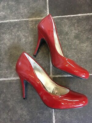 £14.90 • Buy Ladies Jessica Simpson Red Patent Leather Stiletto Court Shoes Size UK5.5/38.5EU