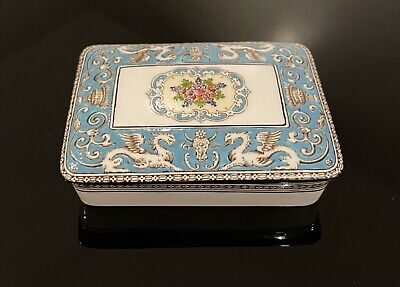 £75 • Buy Wedgwood Florentine Turquoise, Trinket Box Or Butter Dish - Immaculate