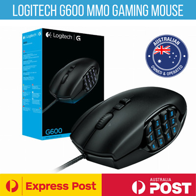 AU114.95 • Buy Logitech Mouse Laser G600 Mmo Gaming 20 Mmo Button Usb 8200 Dpi Black Brand New