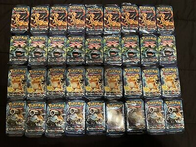 $500 • Buy 36 Pokemon XY EVOLUTIONS Loose Booster Packs = Booster Box TCG Trading Cards