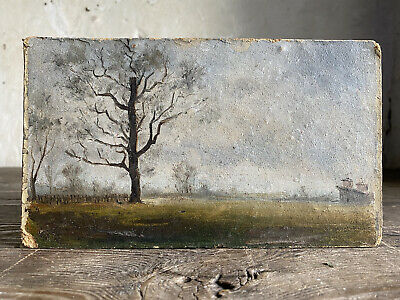 £46 • Buy Antique French Oil Painting Signed On Reverse  Muenier 1883