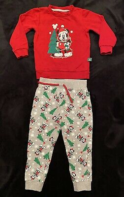 £5.99 • Buy Christmas Mickey Mouse Tracksuit 💚Disney Age 2-3