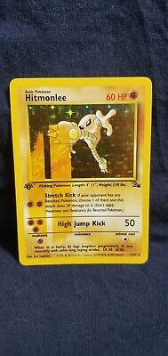 $2750 • Buy Pokemon 1st Edition Fossil Ink Stain ( Cigar ) Hitmonlee 7/62 In VLP Condition.