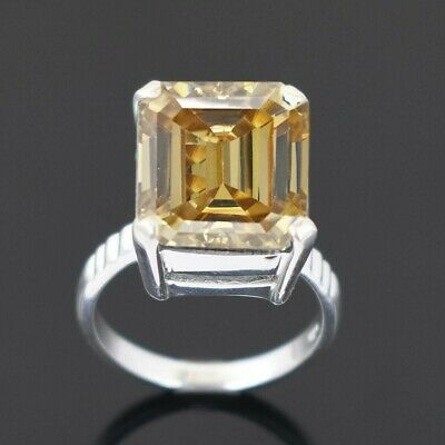 AU70.38 • Buy Stunning Champagne Diamond Solitaire Ring-HUGE 12.75 Ct Certified- Unisex Design