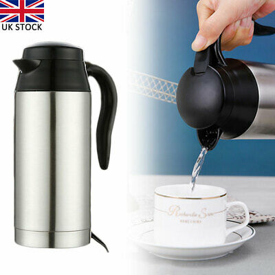 £20.84 • Buy Portable Durable Electric Kettle Car Van Travel Stainless Steel Water Heater Pot