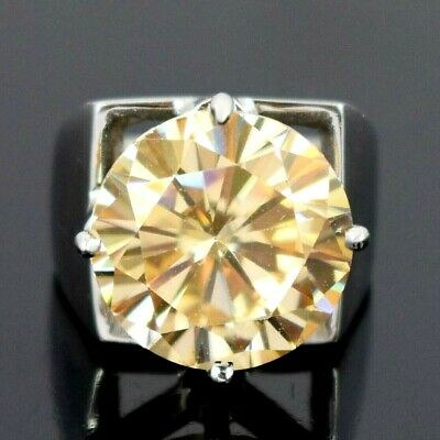 AU69 • Buy HUGE & RARE! Champagne Diamond Cocktail Ring For Men's-15.65 Ct. WATCH VIDEO