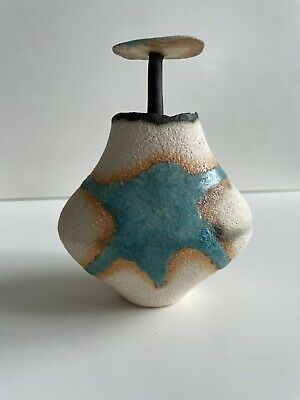 £125 • Buy Unusual Studio Pottery Sculptural Vessel By Keith Bold