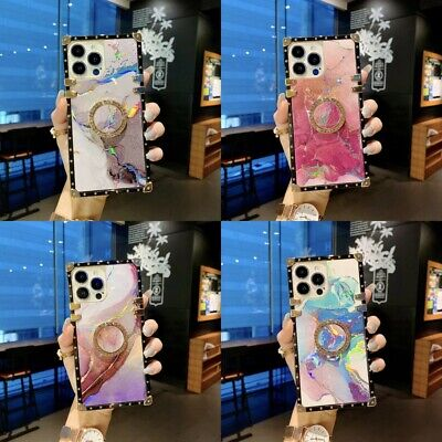 AU12.11 • Buy For IPhone 13 Pro Max 12 11 XS XR 7 8 Girls Cute Laser Glitter Marble Case Cover