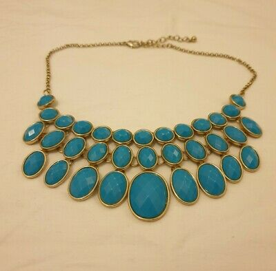 £3.99 • Buy Gorgeous Blue Statement Necklace Costume Jewellery