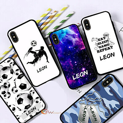 £5.99 • Buy Personalised Name Phone Case Black Boys Cover For IPhone 12 11 8 7 MAX XR X XS 6