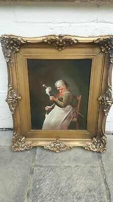 £80 • Buy Large Antique Oil Painting , One Of Pair