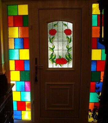 £65 • Buy Double Glazed Stained Glass Window/Door/Feature Panels (x2)