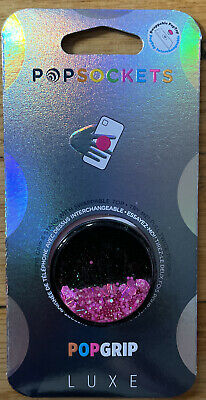 AU21.30 • Buy Popsockets PopGrip Luxe PG Tidepool Neon Pink Sparkle Cell Phone PopTop Stand