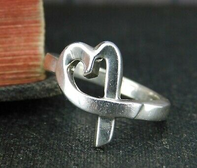 £72.61 • Buy Tiffany & Co. Paloma Picasso 925 Sterling Silver Loving Heart Ring