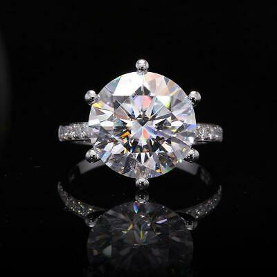 AU333.81 • Buy 5 Ct Off White Diamond Solitaire Solitaire Ring With Diamond Accents Great Shine