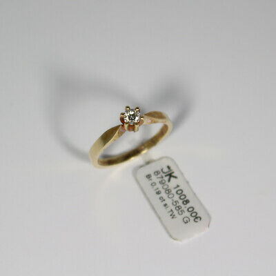 AU927.30 • Buy Solitaire 585 Gold Ring With Brilliant 0,18ct. Si / Tw Gr.53 Made IN Germany