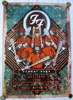 $14.99 • Buy FOO FIGHTERS Concert Poster Fenway Park, Boston 2015 / Dave Grohl / 18x13 In