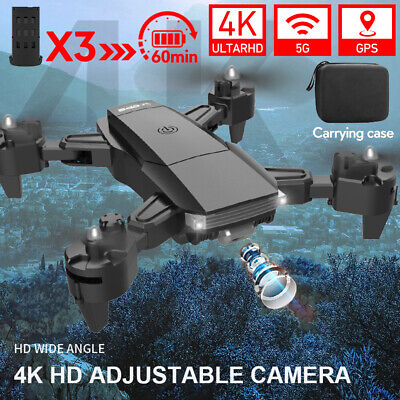 AU133.89 • Buy 5G 4K WiFi GPS Drone With HD Camera FPV RC Selfie Real Time Video Quadcopters AU