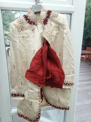 £75 • Buy Mens Indian Sherwani FULL SUIT Worn Only Once Size 38