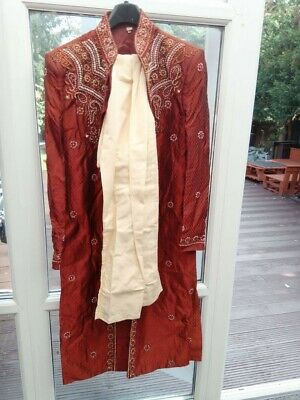 £75 • Buy Mens Indian Sherwani FULL SUIT Worn Only Once Size 40