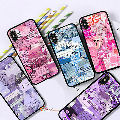 £5.95 • Buy For IPhone 12 11 8 7 MAX XR X XS Aesthetic Collage Phone Case Ladies Cover  F22