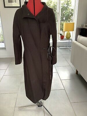 AU40 • Buy Scanlan And Theodore Brown Coat Wool With Leather Trim Size 14 Womens