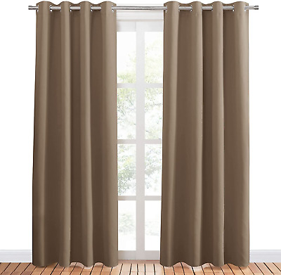 £37.79 • Buy PONY DANCE Blackout Curtains Eyelet - 84 Inch Length Curtain Draperies For Room