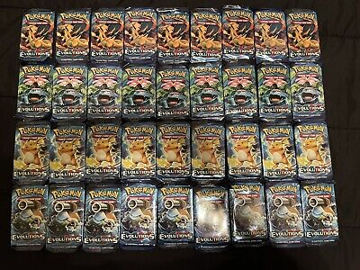 $120 • Buy 36 Pokemon XY EVOLUTIONS Loose Booster Packs = Booster Box TCG Trading Cards
