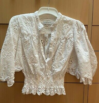 AU75 • Buy Scanlan Theodore White Broderie Cotton Top Size 8