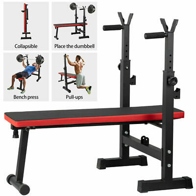 £48.99 • Buy Folding Flat Weight Lifting Bench Body Workout Exercise Benches Home Gym Fitnes