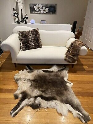 AU350 • Buy Fabric Sofa Couch Lounge Living Room 2.5 Seater Cream White Funky Stylish
