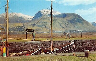 AU5.64 • Buy Ben Nevis With Fishing Boat On Caledonian Canal Corpach Scotland Postcard