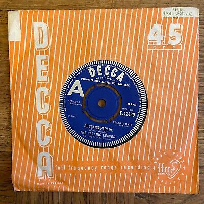 £10 • Buy MOD  PSYCH BEAT - THE FALLING LEAVES  BEGGARS PARADE Decca DEMO F12420