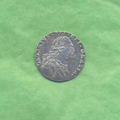 £0.99 • Buy George 111 Sixpence 1787--with Hearts