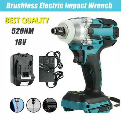 View Details 1/2'' 520NM Brushless Cordless Electric Impact Wrench Gun Drill Driver + Battery • 49.99$
