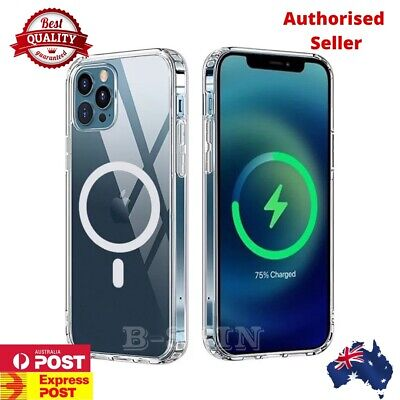 AU15.05 • Buy For IPhone XR 11 12 13 Pro Max Mini Magsafe Case Clear Magnet Shockproof Cover