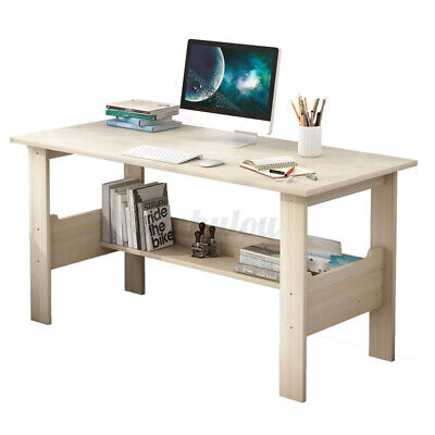 AU65.99 • Buy 100CM Computer Table Desk Book Storage Study Table Home Office Workstation