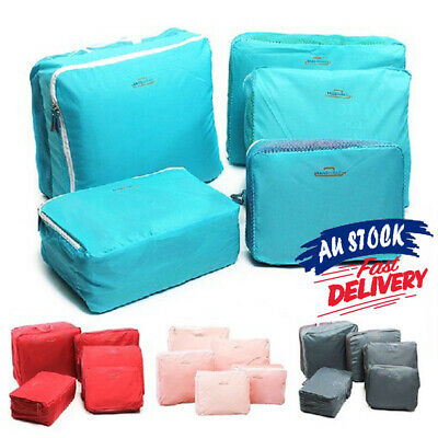 AU13.59 • Buy 5Pcs Organizer Bags Packing Travel Luggage Storage Suitcase Clothes Pouch Cube