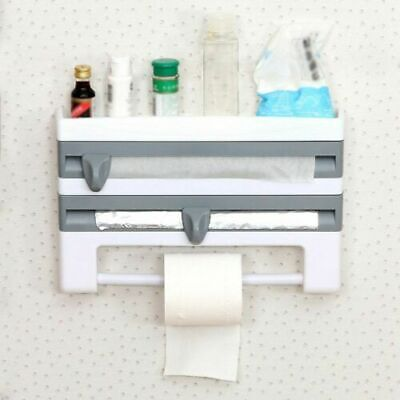 £12.99 • Buy Cling Film And Kitchen Foil Dispenser Paper Towel Roll Holder Wall Mounted Rack