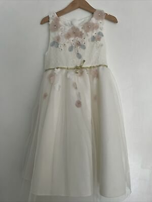 £20 • Buy Monsoon Size 6-7 Years Flower Girl Dress Cherry Blossom Rrp £55 Wedding Lace