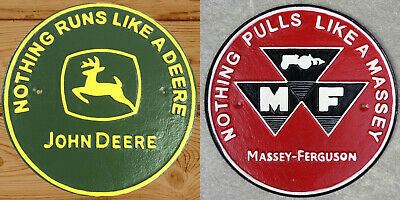£27.50 • Buy Tractor Signs Massey Ferguson + Michelin Tyres Plaques Large Cast Iron *1 ONLY*