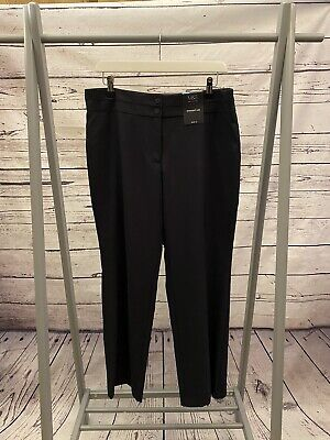 £8.99 • Buy BNWT Dark Navy Blue M&S Collection Straight Leg Trousers Size 14 Short (A8992)