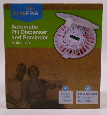 £56.84 • Buy Livefine Automatic Pill Dispenser And Reminder With Key Lock NEW!