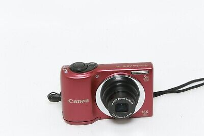 £35.99 • Buy Canon Powershot A810 16.0mp 5x Zoom Red Inc 4Gb Sd Card (463063005164)