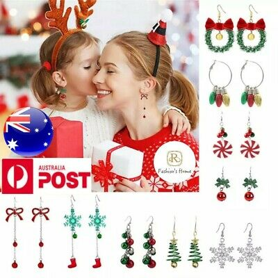 AU7.99 • Buy 925 Silver Filled Christmas Colorful Drop Dangle Stud Zircon Earrings For Party