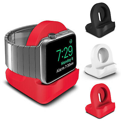 AU11.02 • Buy For Apple Watch IWatch Charging Holder Dock Desk Stand Silicone Station Charger.