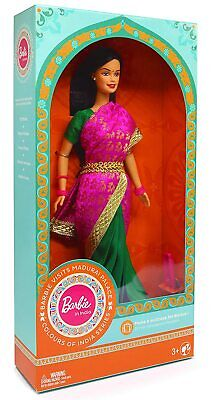£22.99 • Buy Barbie In India Doll Madurai Palace Pink/Green Suit For Girls Kids Xmas Present