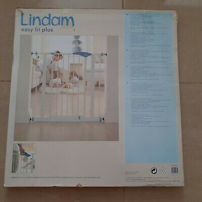 £30 • Buy Lindam Easy Fit Plus Baby GateAdjusts To Fit Opening Between 75cm And 82cm New