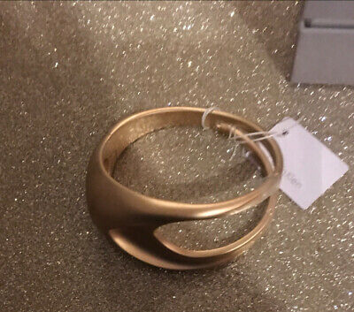 £48 • Buy NWT Calvin Klein Brushed Gold Style Very Large Bracelet (Fully Name Stamped)